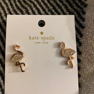 Kate Spade ♠️ new gold flamingos earrings